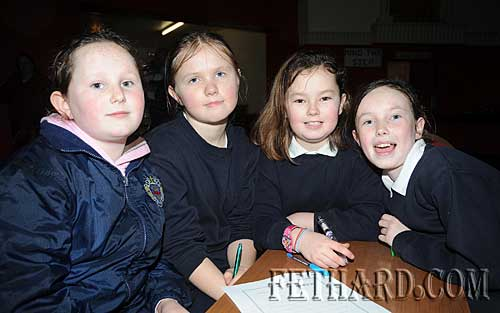 Taken part in the Credit Union regional table quiz for Primary Schools are L to R: Emma Keating, Chloe Lawrence, Cassandra Needham and Lesley Ann Prendergast from Nano Nagle Primary School Fethard.