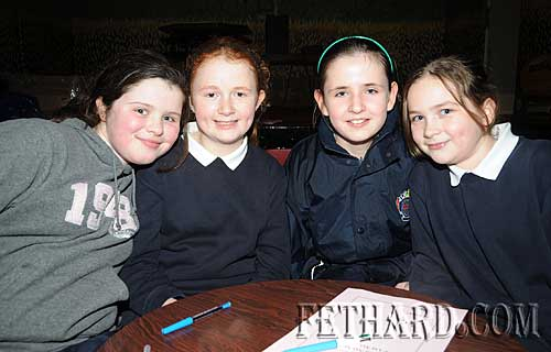 Nano Nagle Primary School quiz team L to R: Jade Callanan, Gráinne Proudfoot, Laura Ryan and Jessie McCarthy.