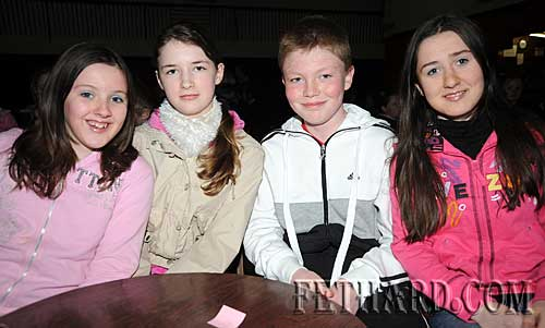 Cloneen National School quiz team L to R: Rebecca Hearne, Sophie Lovi, Camery Moynihan and Aisling Hayes.