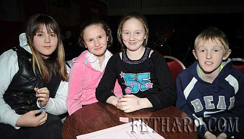 Cloneen National School quiz team L to R: Christine Fitzgerald, Jessica Brett, Katie Mullally and Darren Boland