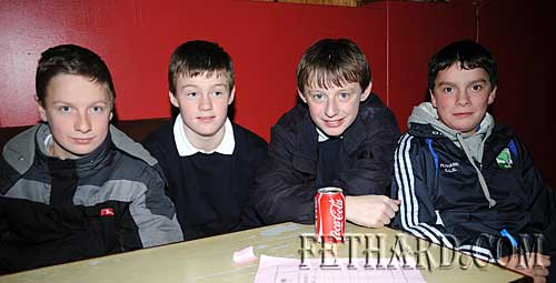 St. Patrick's Boys School quiz team L to R: Donal Walsh, Jack Connolly, Tommy Anglim and Adam Fitzgerald.