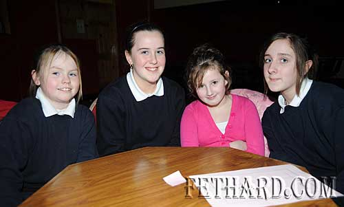 Nano Nagle Primary School quiz team L to R: Lorisa Clancy, Anastasia Blake, Kelly Keating and Gráinne Fanning
