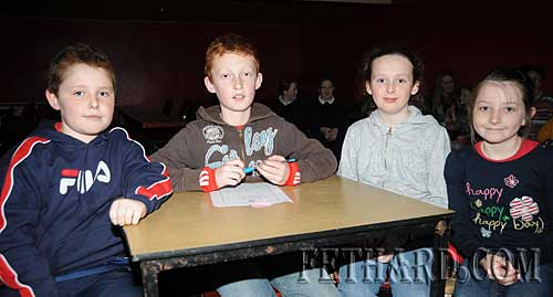 Cloneen National School quiz team who were winners of the Category A section of the regional Credit Union Primary Schools Quiz held in Fethard Ballroom. L to R: Niall Mockler, Joe Noonan, Ava Meagher and Vivienne Noonan.