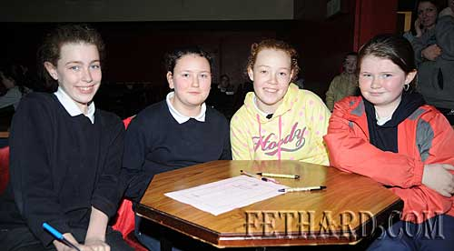 Nano Nagle Primary School quiz team L to R: Kate Quigley, Niamh O'Meara, Molly Proudfoot and Jennifer Rice.