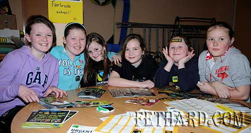 Photographed at the Nano Nagle National School's 'Challenge to Change' project highlighting the sale of Fairtrade and 'Trade Fairly' goods are L to R: Katie Butler, Shannon Dorney, Kelly Keating, Jessie McCarthy, Emma Keating and Chloe Burke.