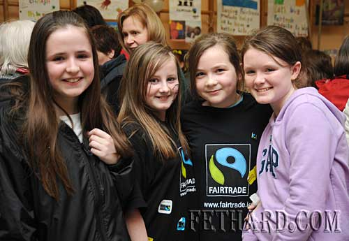 Photographed at the Nano Nagle National School's 'Challenge to Change' project highlighting the sale of Fairtrade and 'Sharing Fair' goods are L to R: Laura Ryan, Kelly Keating, Jessie McCarthy and Katie Butler.