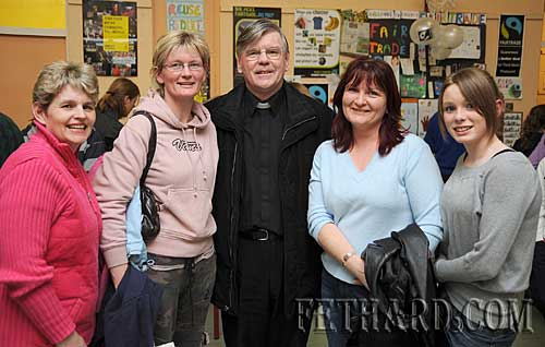 Photographed at the Nano Nagle National School's 'Challenge to Change' project highlighting the sale of Fairtrade and 'Sharing Fair' goods are L to R: Mary Butler, Alice Butler, Fr. Tom Breen P.P., Mary Shanahan and Lucy Butler.