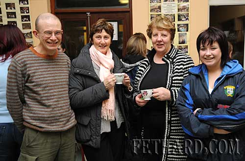 Photographed at the Nano Nagle National School's 'Challenge to Change' project highlighting the sale of Fairtrade and 'Trade Fairly' goods are L to R: Fintan Rice, Mary McCarthy, Ann Darcy and Laura Rice