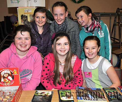Helping at the Fairtrade stall at Nano Nagle National School were Back L to R: Ciara Hayes, Rachel O'Meara, Lesley Anne Prendergast. Front L to R: Jade Callanan, Sadhbh Horan and Sandra Needham.