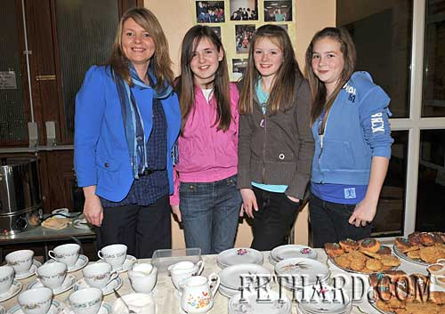 Serving at the tea and cake stall at the Fairtrade and Sharing Fair Evening at Nano Nagle National School were L to R: Ann Marie Harty, Laura Ryan, Katie Butler and Jessie McCarthy
