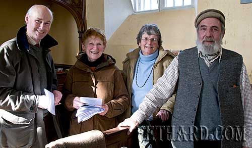 Photographed at the Annual Famine Service at Magorban Church are L to R: Richard Craig White, Rosemary Lalor, Patricia O'Malley and Terance O'Malley