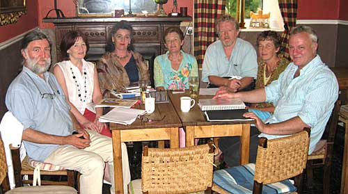 Fethard Medieval Festival organising committee planning for this year's eveny on 23rd August. L to R: Joe Kenny, Mary Hanrahan, Pat Looby, Diana Stokes, Terry Cunningham, Dóirín Saurus and Tim Robinson.