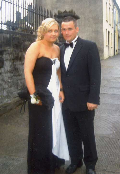 Lesley Looby and Willie Burke photographed at Fethard Debs Ball in Kilcoarn Lodge Hotel