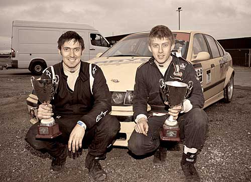 Fethard brothers John and Paul McCarthy who both took home Irish Championship cups in the D-rift 09 Championship