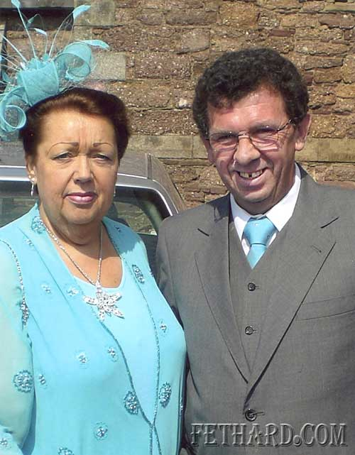 Frank and Rita Flanagan (nee Fitzgerald) photographed while home recently from Bristol to attend a family wedding. Rita is formerly from Kiltinan and Frank is formerly from Tullamaine.