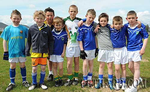 Young boys photographed at the Fethard GAA Club 'Family Fun Day' held on Sunday 10th May to mark the 125 Year Celebrations of the Gaelic Athletic Association in Ireland. L to R: Dean Dorney, Liam Quigley, Alex O'Donovan, Stephen Crotty, Jody Sheehan, Jack Ward, Jessie McCormack, Dean Kenny and Shane Curran.