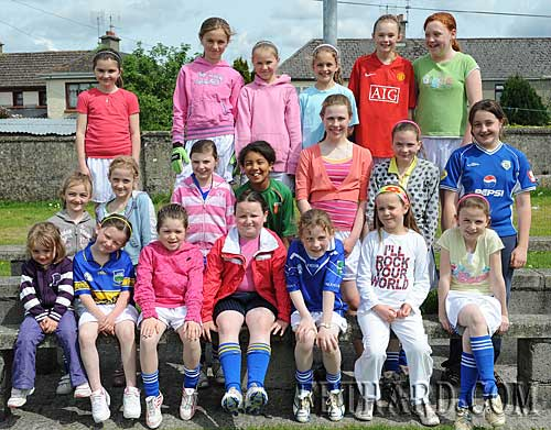 Young Fethard girls photographed at the Fethard GAA Club 'Family Fun Day' held on Sunday 10th May to mark the 125 Year Celebrations of the Gaelic Athletic Association in Ireland.