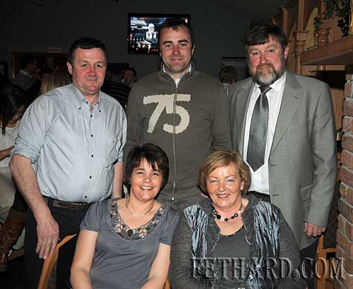 Photographed at the Fethard GAA Medal Presentation Function at Slievenamon Golf Club are Back L to R: Eddie Crotty, Damien Byrne (School Liaison Officer), Noel Byrne. Front L to R: Helen Crotty and Bernie Byrne.