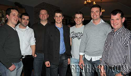 Photographed at the Fethard GAA Medal Presentation Function at Slievenamon Golf Club are L to R: Mikie Aherne, John Paul Looby, Paul Fitzgerald, Paul Curran, Shane Walsh, Aidan Fitzgerald and Michael Ryan