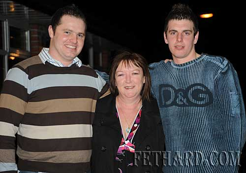 Photographed at the Fethard GAA Medal Presentation Function at Slievenamon Golf Club are L to R: Eoin Doyle, Anne Butler and Jamie McCormack