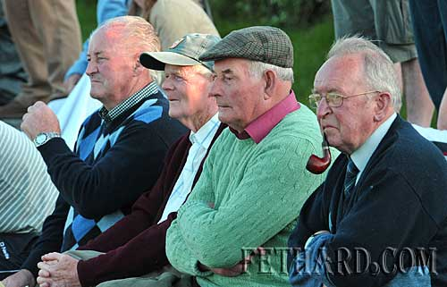 Fethard GAA followers at the Mullinahone v Ballingarry senior hurling championship match last Sunday L to R: Gerry Hannon, Mickey Fitzgerald, Jim Williams and Nicky O'Shea.
