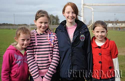 Photographed at the Intermediate Hurling League 'B' game between Fethard and Arravale Rovers in Fethard are L to R: Rebecca McCarthy, Jessie McCarthy, Annie Prout and Megan McCarthy.