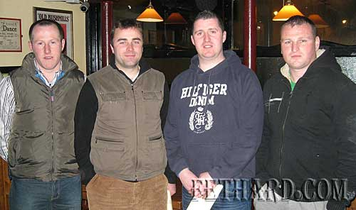 Photographed after Fethard GAA annual general meeting held in the Tirry Community Centre are L to R: Miceál Spillane, Damien Byrne, Shane Kenny and Tomás Keane.