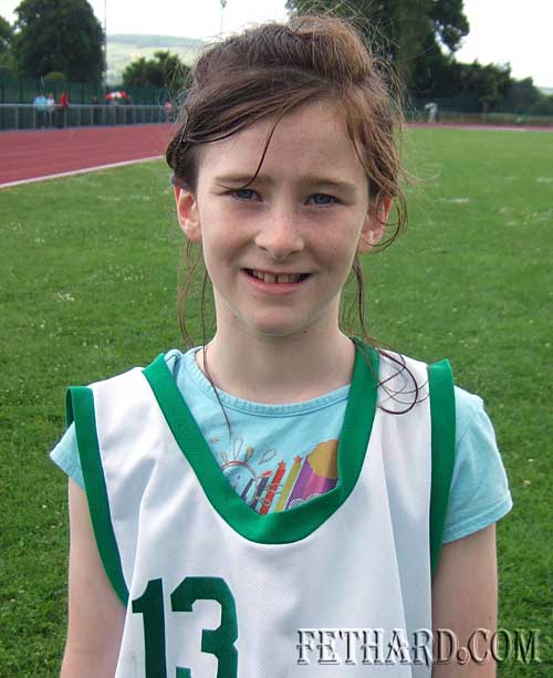 Hannah Phelan, grandaughter of Willie Phelan, Crampscastle, who represented Clerihan area at the Community Games Athletics Finals.