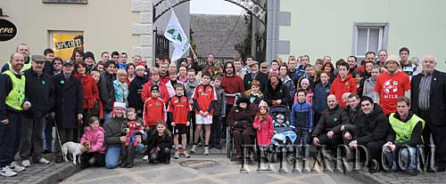 Some of the large crowd that turned out on Christmas Day to take part in the 'Goal Mile' in Fethard. The event raised over €1,830 and attracted many participants from all over the county.