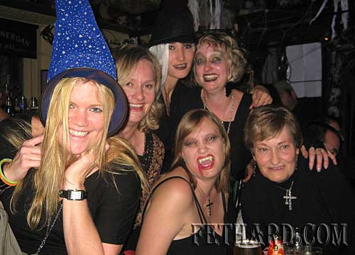 Members of the Outram family enjoying the Halloween 'Witches' Party at Lonergans