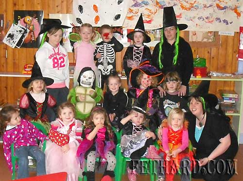 Children from First Steps Playgroup at the Tirry Community Centre, Fethard, photographed at their Halloween Party last week