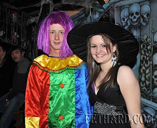 At the Halloween Party in Lonergans were L to R: Chris McGrath and Linda Kelleher