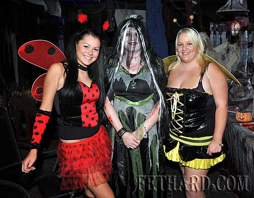At the Halloween Party in Lonergans were L to R: Tara Needham, Ann Needham and Leeann Hickey.