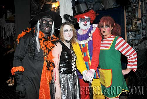 At the Halloween Party in Lonergans were L to R: Michael Power, Nicola Lonergan, James Needham and Michelle McNamara.
