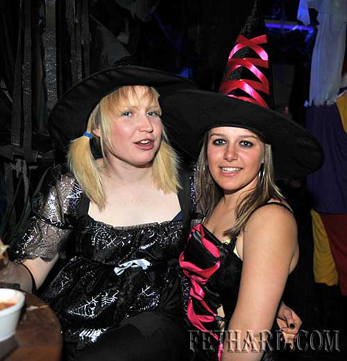 At the Halloween Party in Lonergans were L to R: Pam Lalor and Amie Waugh