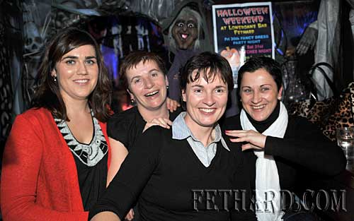 At the Halloween Party in Lonergans were L to R: Jane Farrow, Teresa Hurley, Marguerite Dalton and Teresa Sullivan