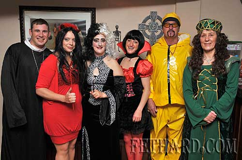 Photographed at the Halloween Party at Gaule's Bar, Fethard, were L to R: Niamh Bergin, Liam Grant, Gabrielle Doherty, Annette Connolly, Olive Gaule, Sonny Gaule and Rita Gaule.