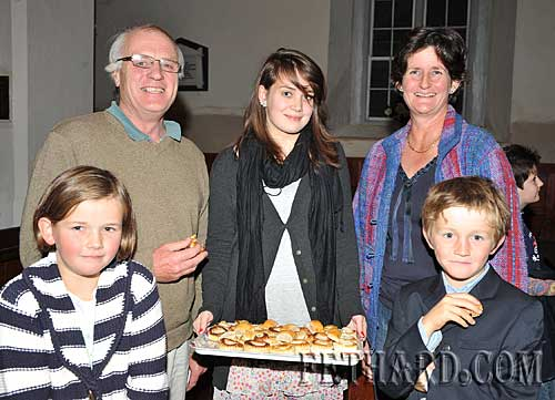 Photographed at the Harvest Festival in Fethard were Back L to R: Louis Grubb, Louise Baily, Sara MacDonald. Front L to R: Ruth MacDonald and Angus MacDonald.