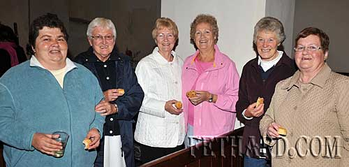 Photographed at the Harvest Festival in Fethard last Sunday were Back L to R: Rose McCarthy, Margaret O'Connell, Phill Wyatt, Mary Hanton, Rosemary Ponsonby and Ann Gleeson.