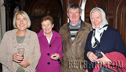 Photographed at the Harvest Festival in Fethard last Sunday were Back L to R: Thelma Griffith, Diana Stokes, Larry Kenny and Jenny Butler.