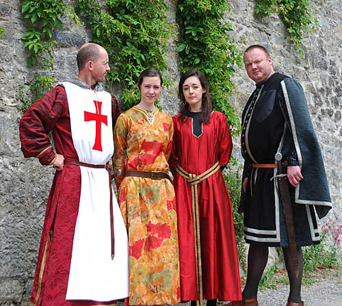 Colm McGrath, Fiona Hyland, Sarah Moloney and Simon Thompson in Medievel Costume