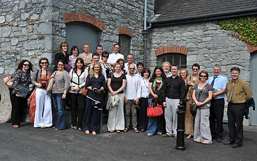 Group of heritage officers photographed outside the Abymill Theatre Fethard following a presentation on Fethard's Public Realm Plan and local community development. The group were attending a two day seminar based in Clonmel.