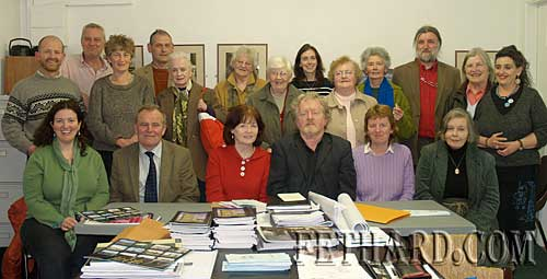 Group photograph taken after Fethard Historical Society's AGM held in the Abymill Theatre on 28th April. Back L to R: Colm McGrath, Tim Robinson, Dóirín Saurus, Peter Grant, Rita Walsh, Agnes Evans, Kitty Delany, Rachel Murphy, Ann Gleeson, Marie O'Donnell, Joe Kenny, Ann Lynch, Pat Looby. Front L to R: Labhaoise McKenna (Heritage Officer South Tipperary County Council), Cllr John Fahey, Mary Hanrahan, Terry Cunningham, Catherine O'Flynn and Frances Murphy.