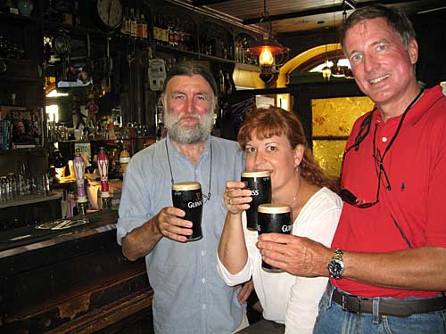 Cailín Mills enjoying a pint in McCarthy's after coming to Fethard from Canada to celebrat her birthday.