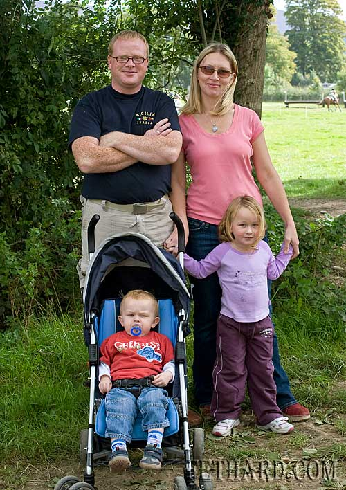 Enjoying the Horse Trials at Grove last Sunday are Jimmy and Dee Smith with their children Zack and Sarah.