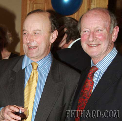 Photographed at the Tipperary Hunt Pony Club 50th Anniversary Reunion Party at Slievenamon Golf Club were L to R: John Watson and Andrew Healy