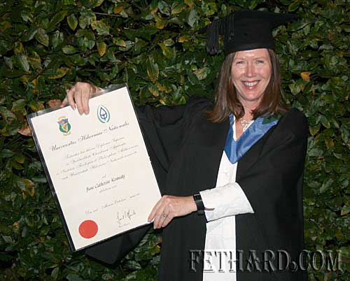 June Kennedy, Burke Street, who recently graduated with first class honours in the Higher Diploma in Applied Christian Spirituality (ACS) at Milltown Institute, Dublin