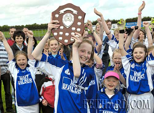 Fethard captain, Annie Prout, hold the trophy aloft following their county final win over Clonmel Og