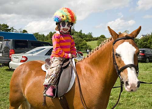 Emily Fox on 'Sandy' competing in the Fancy Dress at Killusty Show