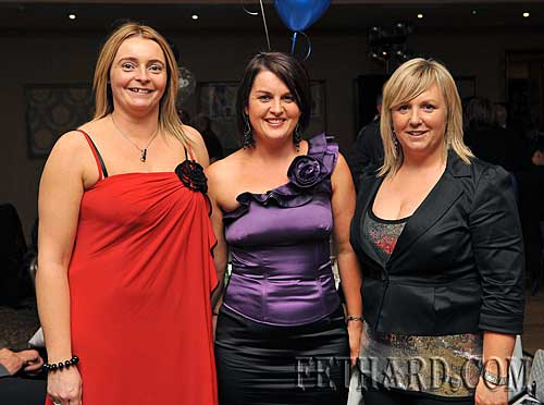 Photographed at the Killusty Soccer Club's 40th anniversary dinner dance held last weekend in Clonmel are L to R: Eleanor Roche, Bernadette O'Meara and Lorraine Coen.